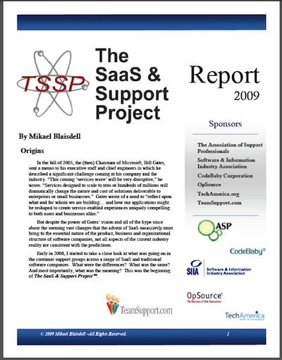 TSSP Report 2009