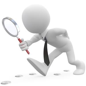 Magnifying glass businessman VSM