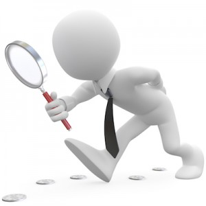 Magnifying glass businessman SM