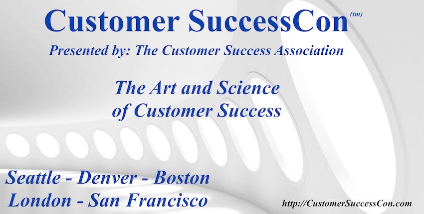 Futuristic hallway with text: Customer SuccessCon