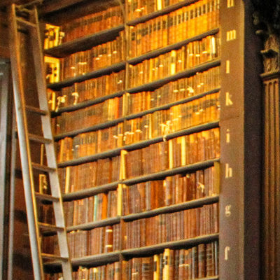 Books in an old bookcase