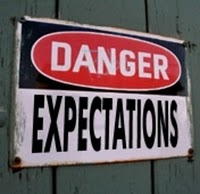 Danger - Expectations sign