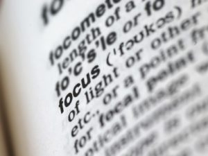 Focus definition from dictionary