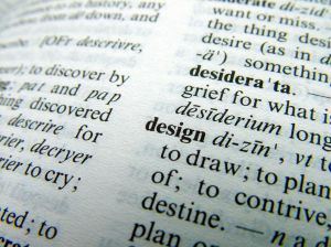 Dictionary word - design