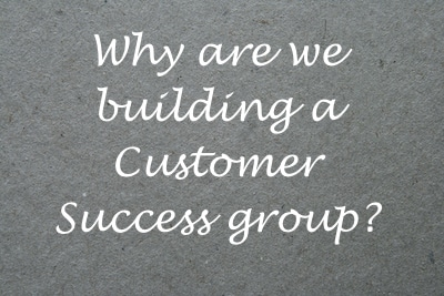 Why are we building a Customer Success group