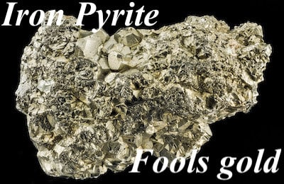 Image of iron pyrite or fools gold