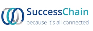 SuccessChain logo with tag line - because it's all connected -